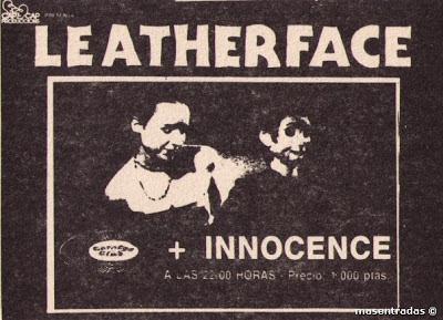 entrada de concierto de leatherface