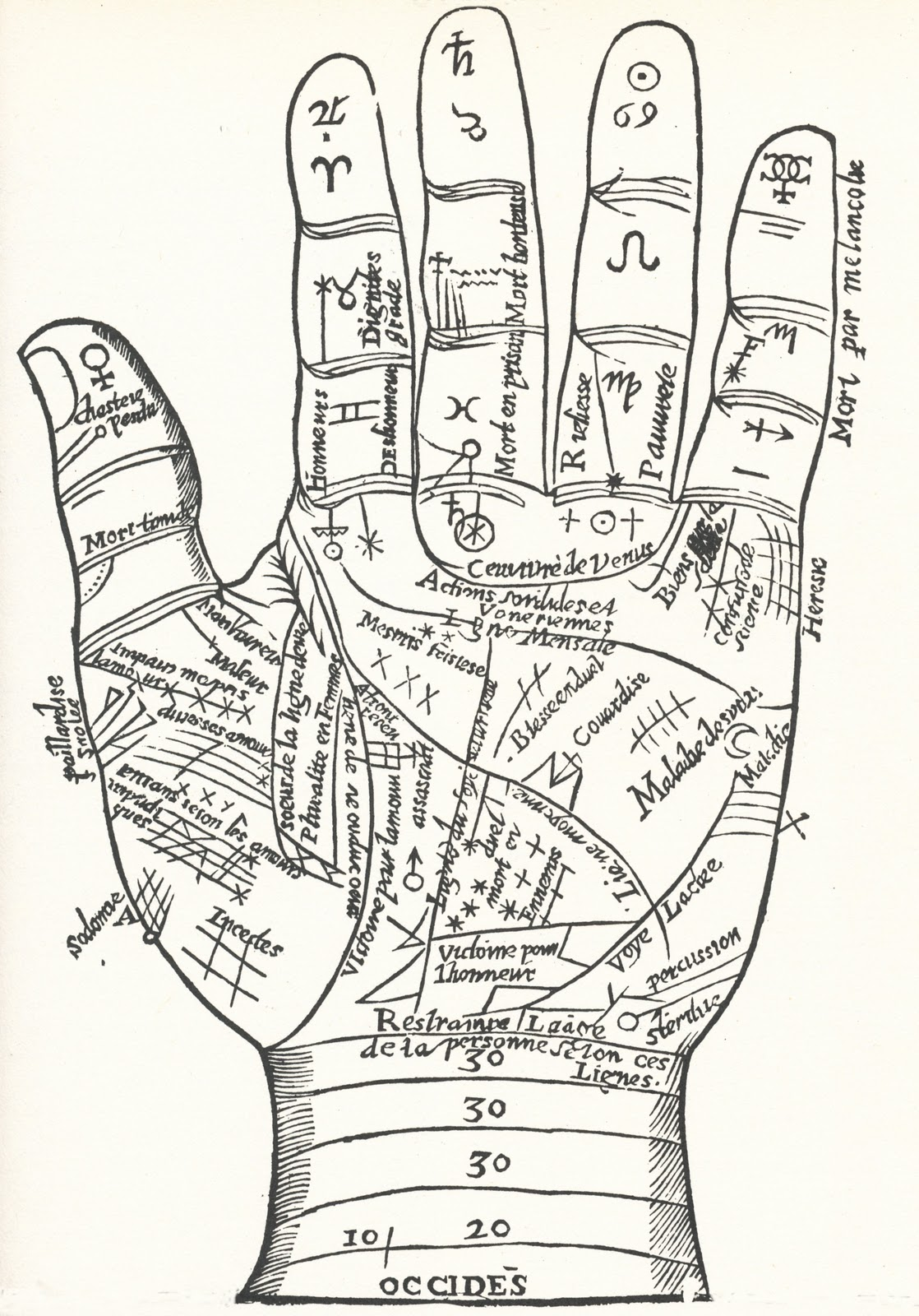 Collage Candy: Vintage and ancient hand diagrams