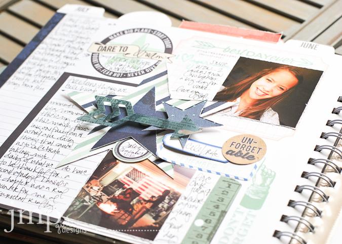 july memory planner @jamiepate #heidiswapp #heidiswapphellotoday