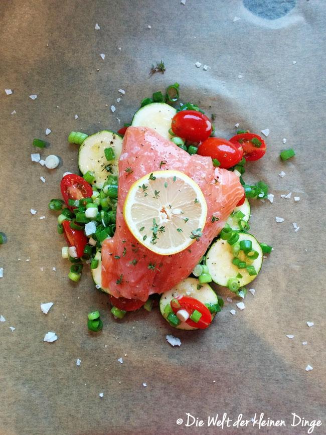 Lachs, Ofen, Gemüse, schnell, Fisch