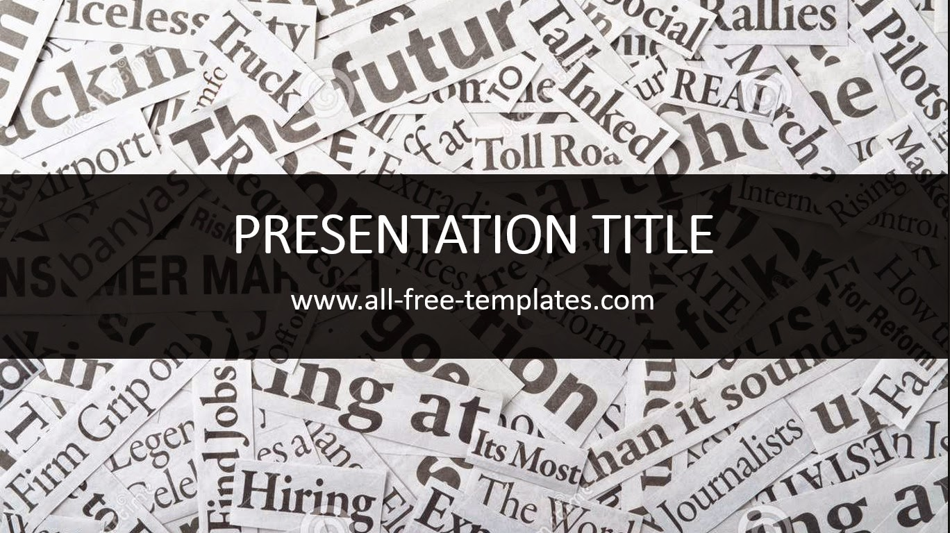 newspaper powerpoint template allfreetemplates