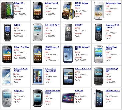 Daftar Harga Hp Samsung Maret Terbaru 2013