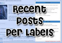 Cara membuat recent posts per labels