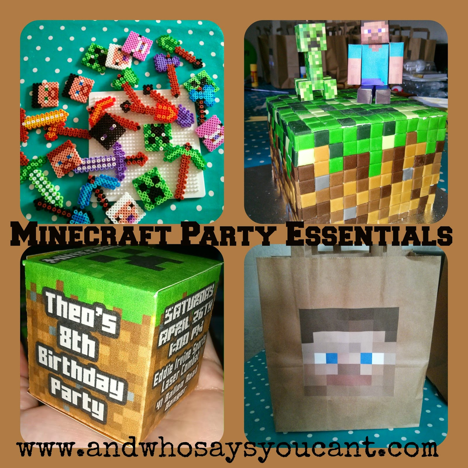 And Who Says You Can T Minecraft Birthday Party