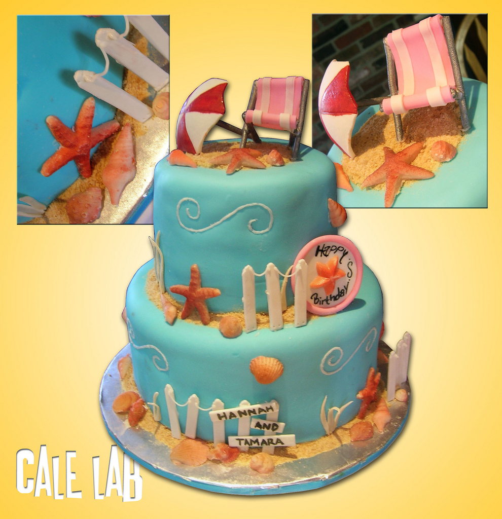 Zaco Cakes Beach Themed Birthday Cake