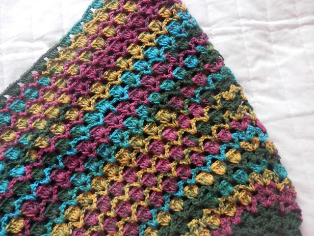 My Crochet Stripey Harmony Shawl. secondhandsusie.blogspot.co.uk