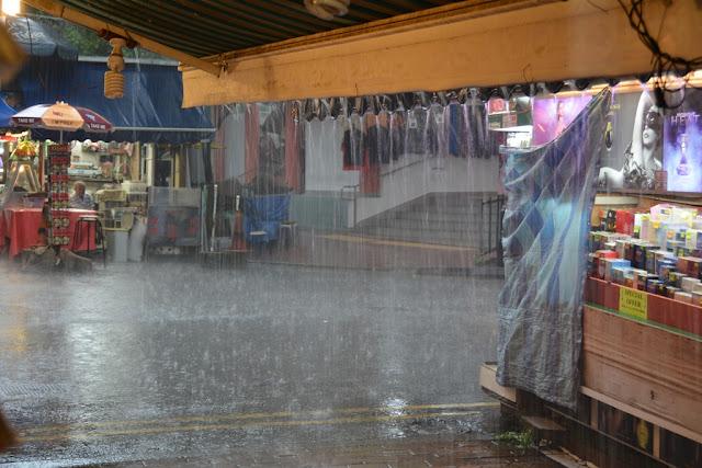 Chinatown Singapore rain
