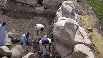 La estatua de Amenhotep III, en Luxor