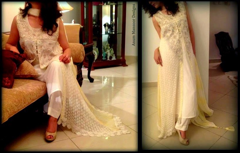 Anum Mansoor Eid Dress 2014