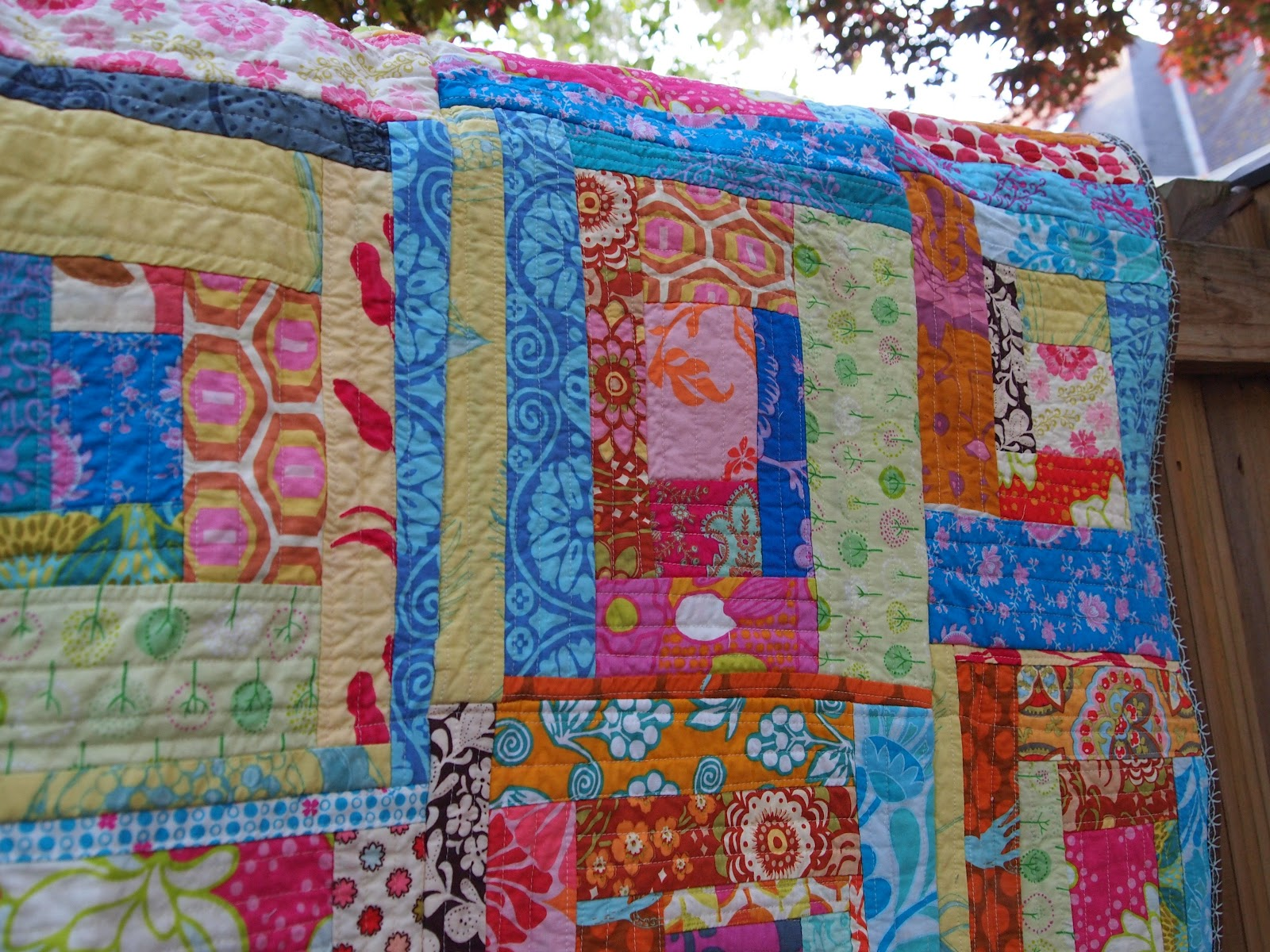 Plum and June: Log Cabin Baby Quilt