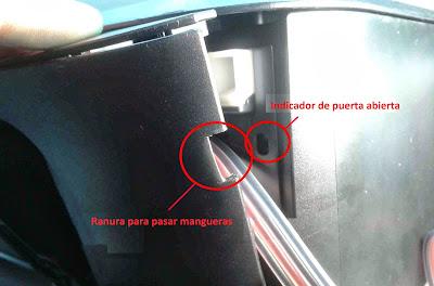 haga grieta respetando sensor de puerta canon