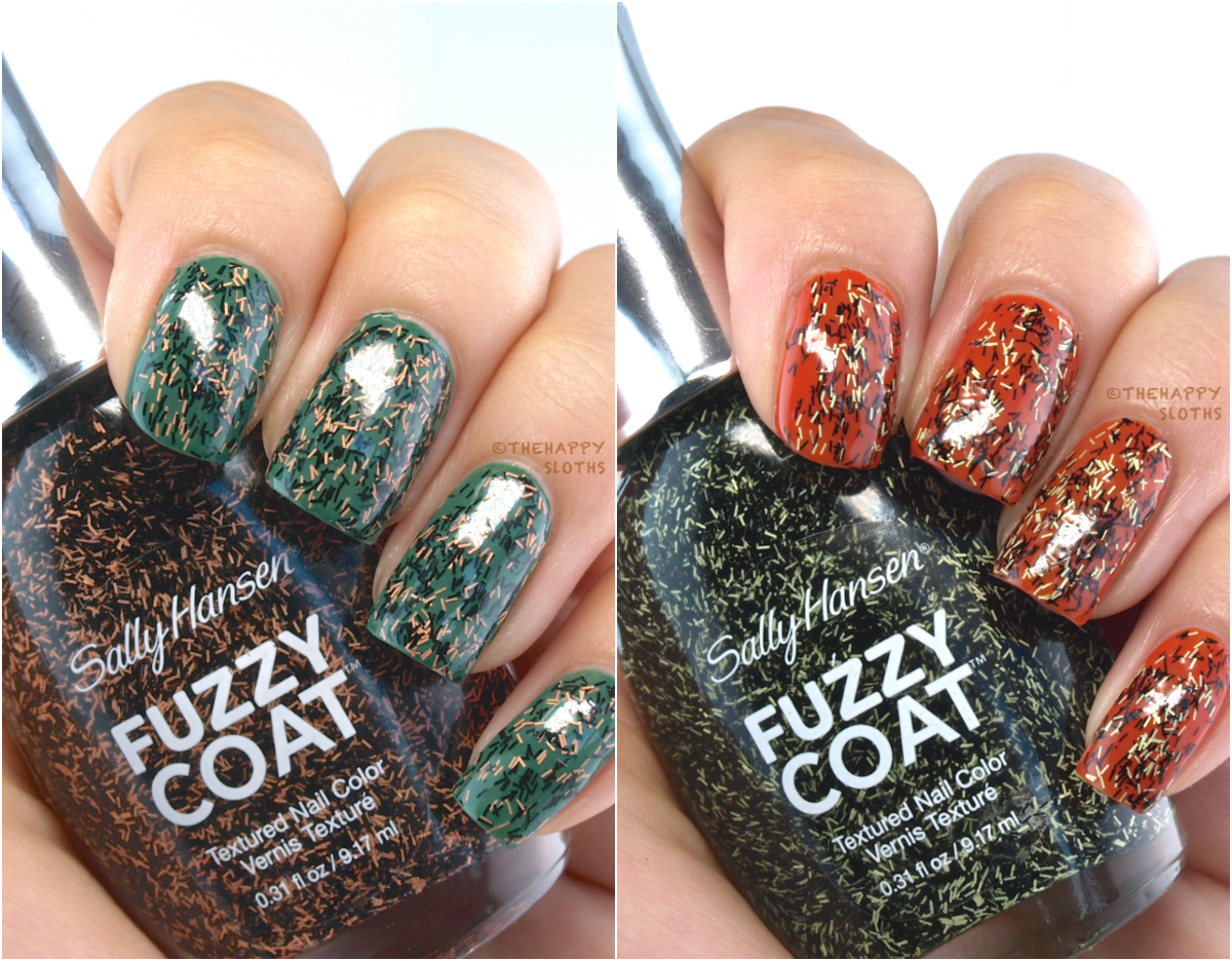 Sally Hansen Limited Edition Special Effects Fuzzy Coat Halloween Collection: Review and Swatches