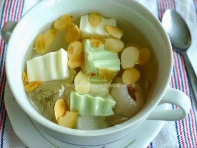 Cách nấu chè khúc bạch Vani - Trà xanh