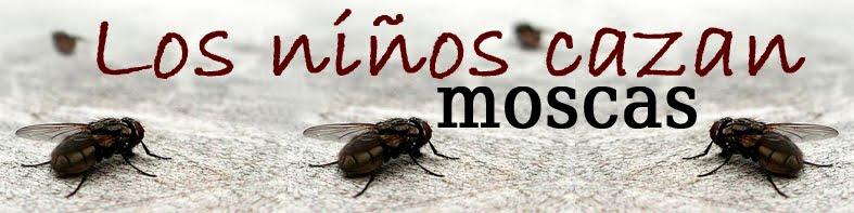 Los niños cazan moscas