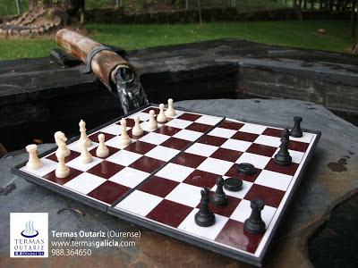 Termas Outariz, Spa, hotspring, pediliuvio, ajedrez