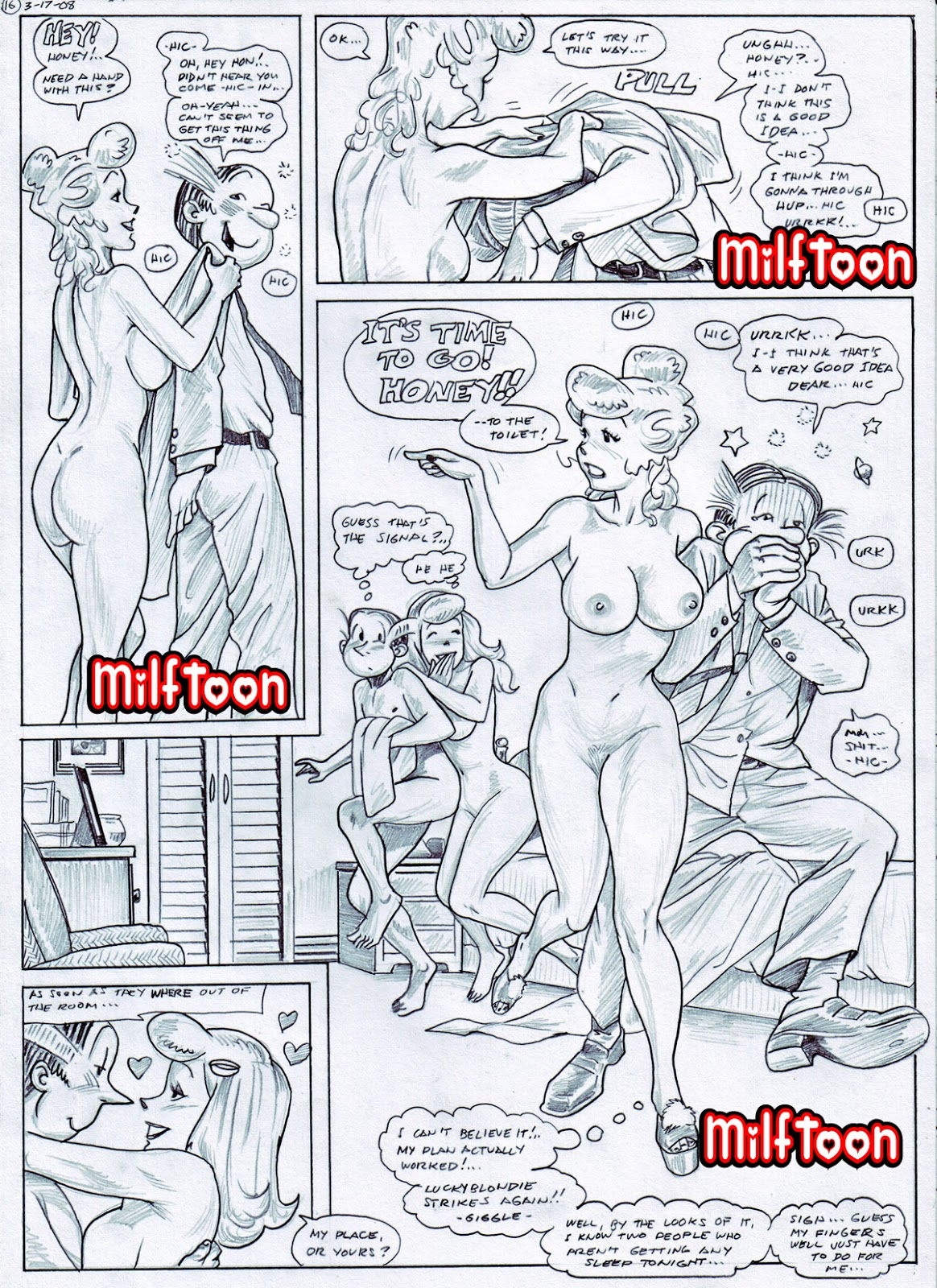 Cartoon Sex Crazy Comics in Crazy World  Adults Only