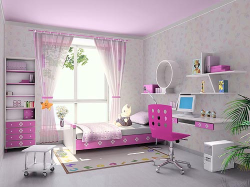 Best girls room designs best kids furniture loft beds bunk beds and etc - Bed for girls room ...