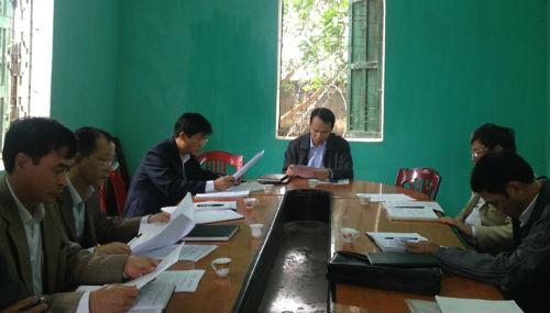 Kiểm tra công tác chuẩn bị Đại hội Đảng các cấp tại xã Đại Thành