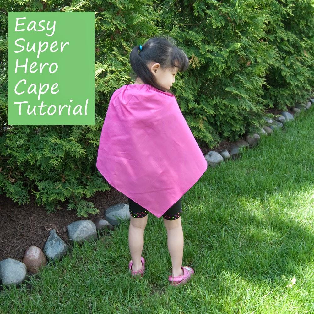 Super Easy Super-Hero Cape Tutorial | Beyond the Dryer Vent