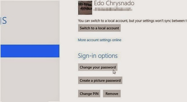 Cara Mengganti Password Akun Microsoft di Windows 8
