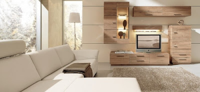 Trang trí phòng khách gỗ sồi