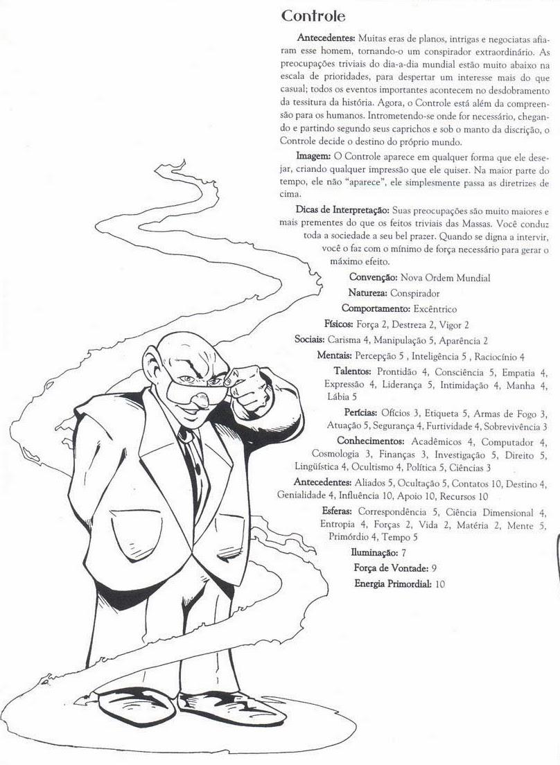 Ficha de personagem do Controle