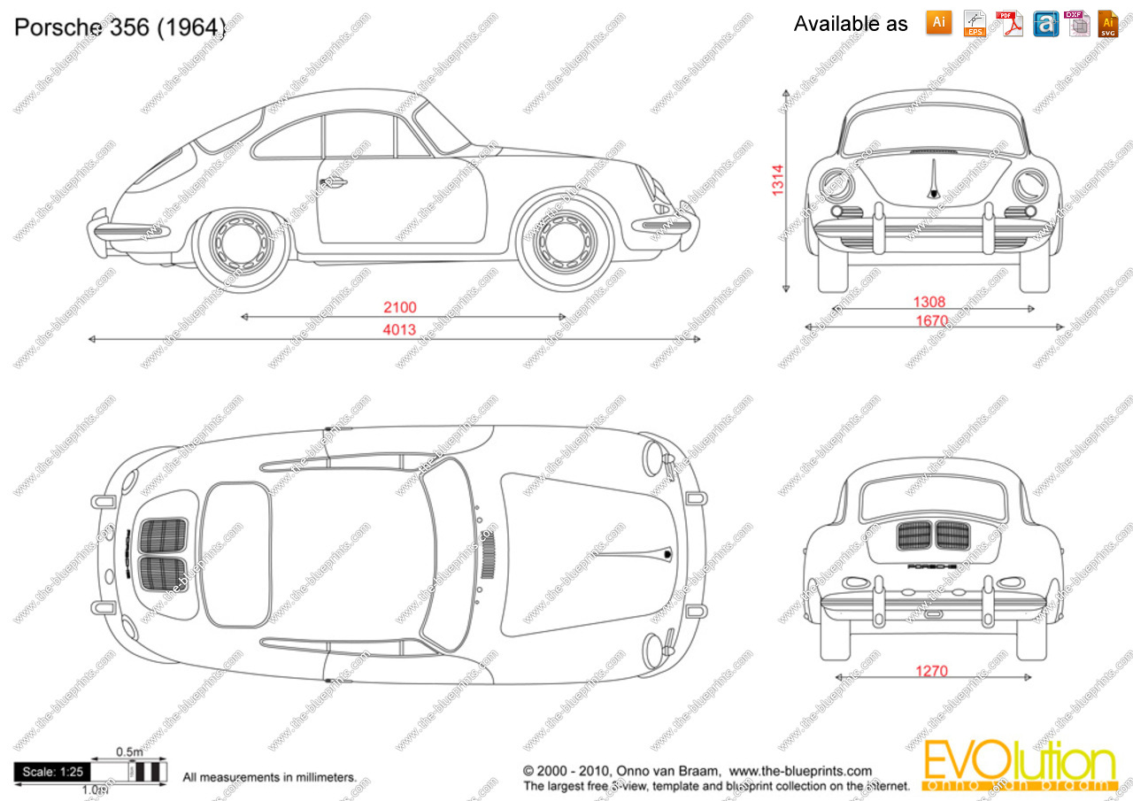 Handverker Porsche Dimensions