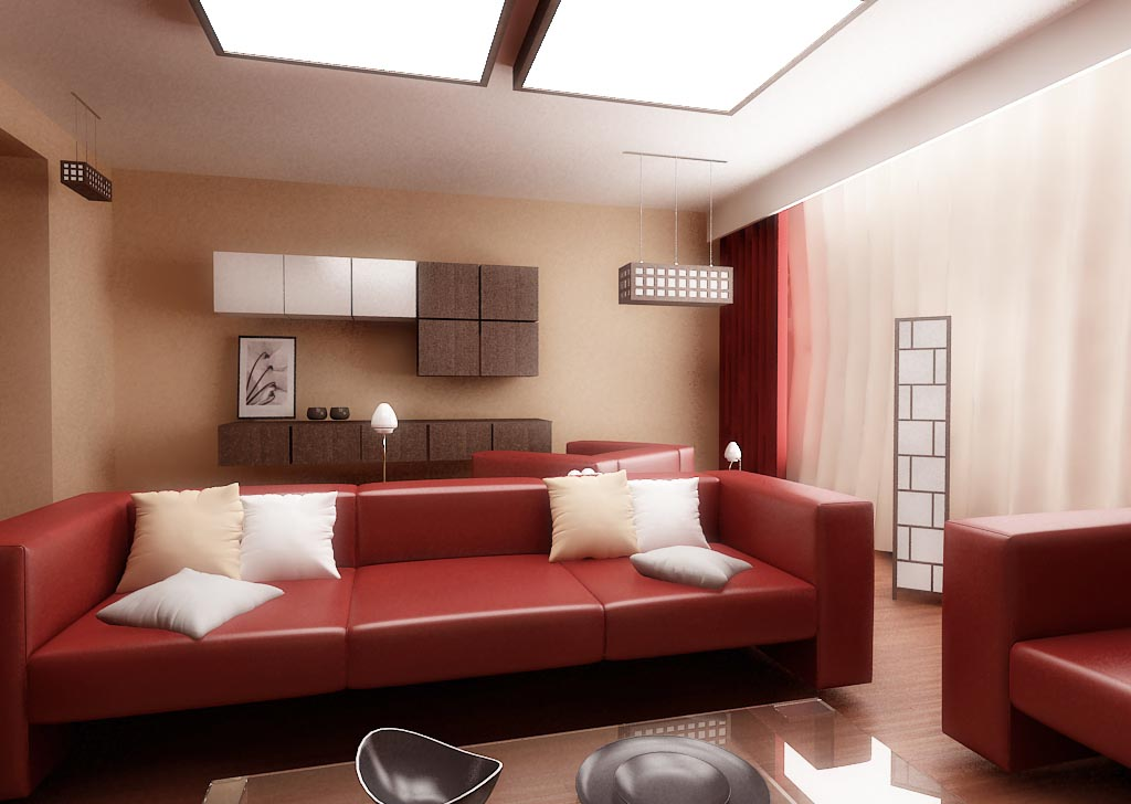 Red Living Room Furniture Ideas