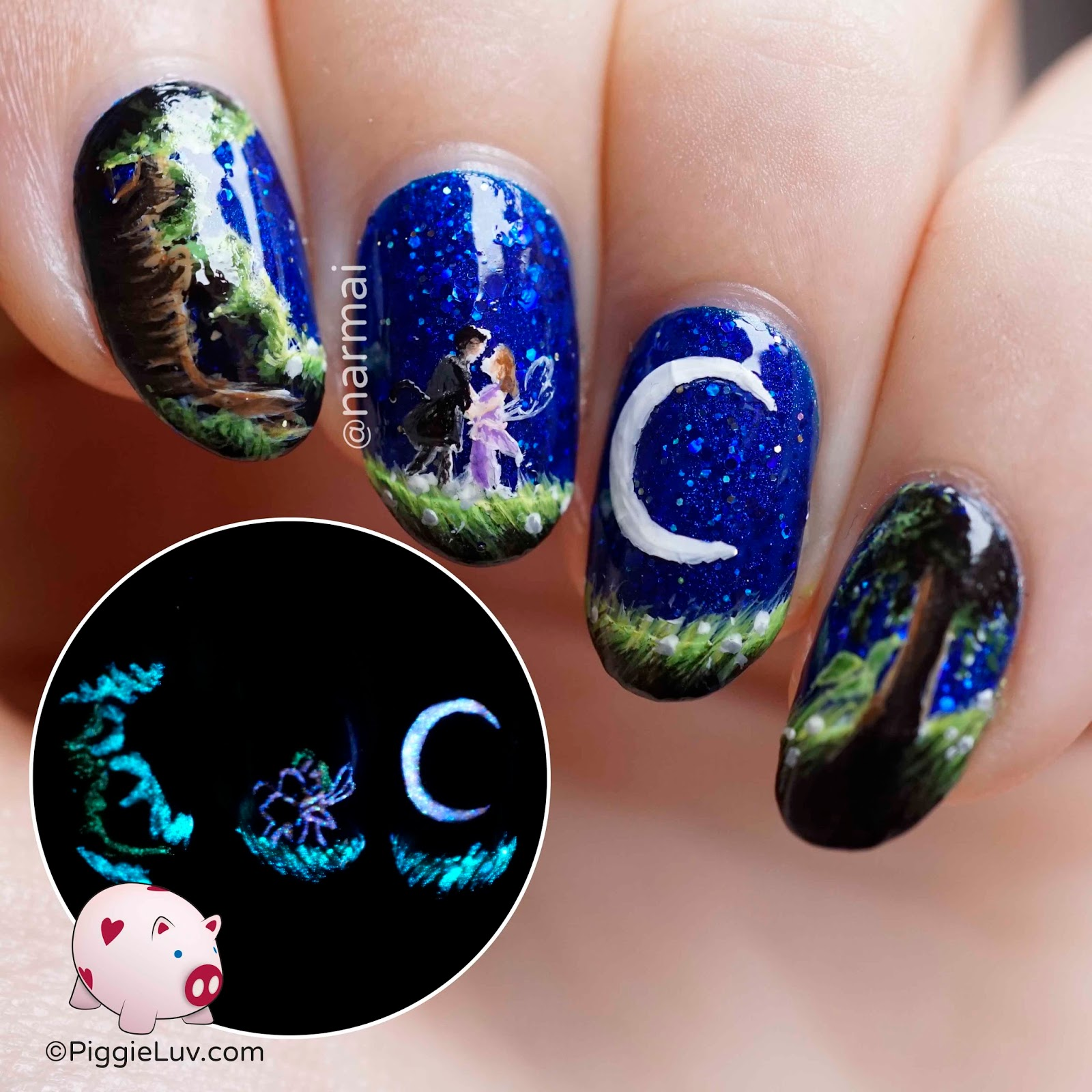 Piggieluv Fairy Love Nail Art Glow In The Dark