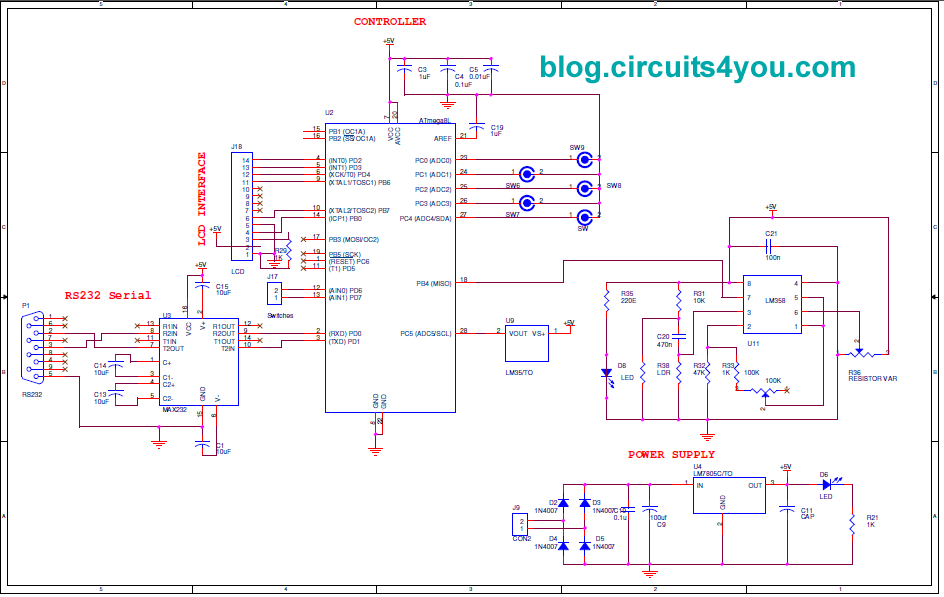 patient monitoring system using gsm  circuitsyou, circuit diagram