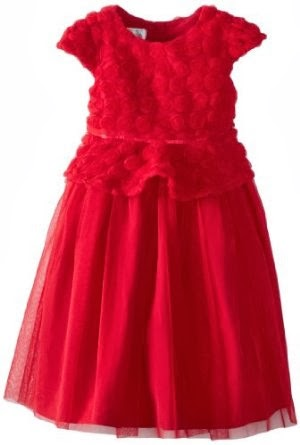 Girls red party holiday flower girl dress girls red formal dress