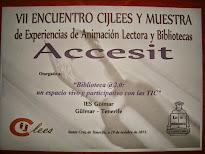 Accésit en el VII Encuentro CIJLEES