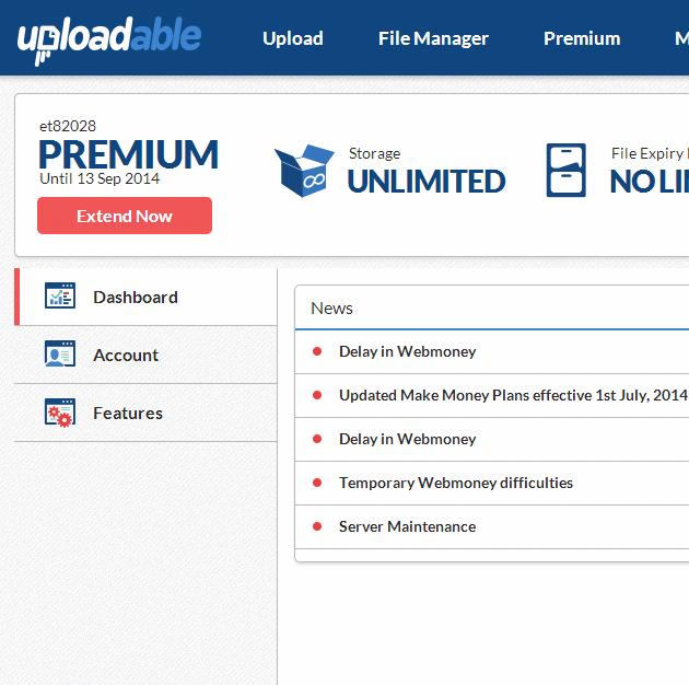 free uploadable premium account