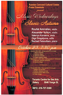 "Classical Music Concert ""Slavic Autumn""  by Prater Ensemble, poster"