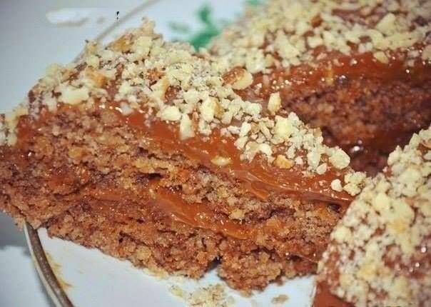 Ореховый пирог без муки и масла