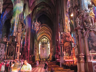 Note the colors within St, Stephens cathedral in Vienna Austria