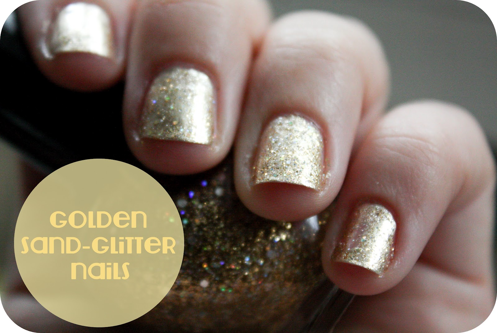 golden sand-glitter nails (feat a few cookie-poser snaps