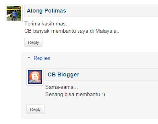 Reply Comment - Balas Komentar Blogger