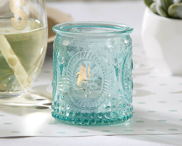 http://www.weddingfavoursaustralia.com.au/products/vintage-blue-glass-tealight-holder-set-of-4