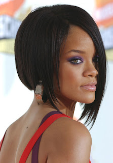 Rihanna Edgy Bob Hairstyle Ideas for Girls
