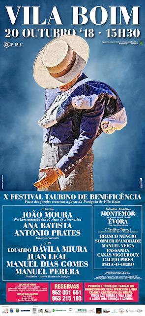 VILA BOIM (PORTUGAL) 20-10-2018. FESTIVAL TAURINO MIXTO.