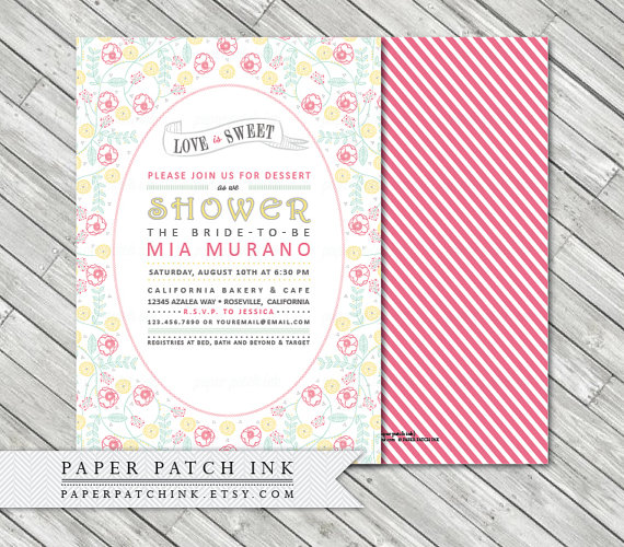 Love Is Sweet Dessert Bridal Shower