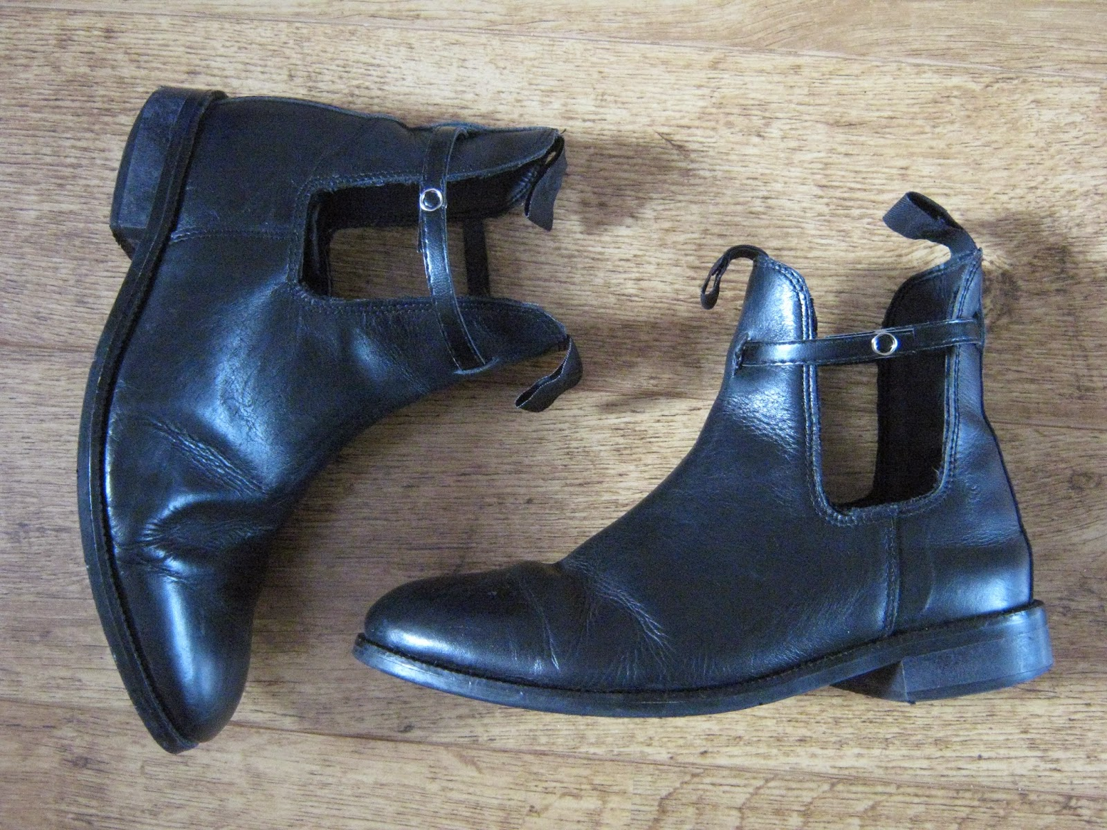 DIY Cut Out Ankle Boots