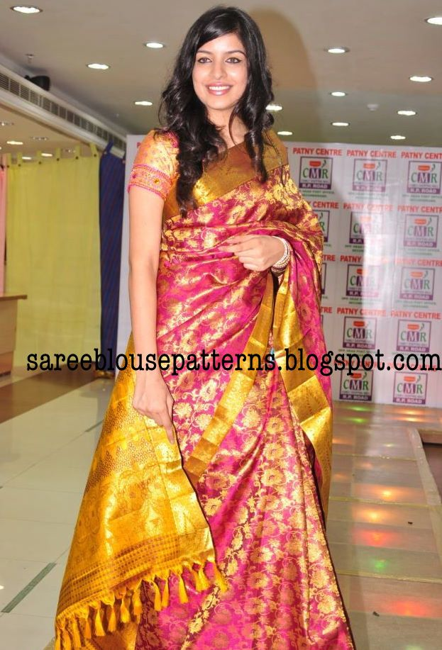 Sarees And Paired With Matching Silk Designer Embroidery Work Blouses