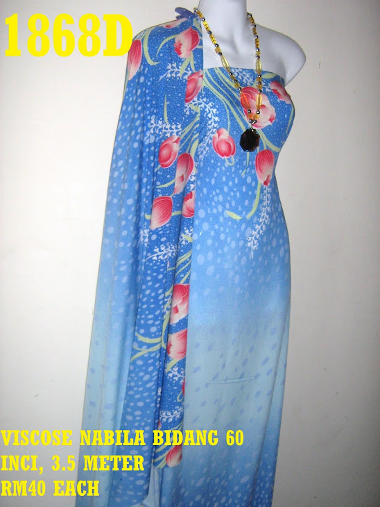 VN 1868D: VISCOSE NABILA BIDANG 60 INCI, 3.5 METER