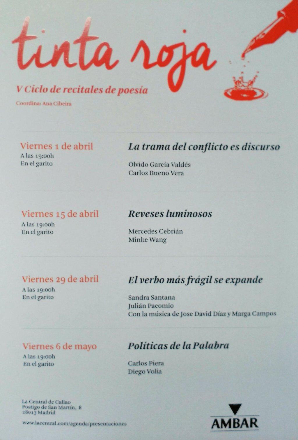 CICLO DE RECITALES TINTA ROJA V (2016)