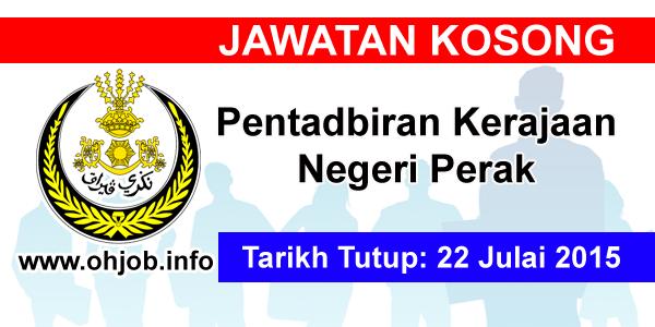 Jawatan Kerja Kosong Pentadbiran Kerajaan Negeri Perak logo www.ohjob.info julai 2015