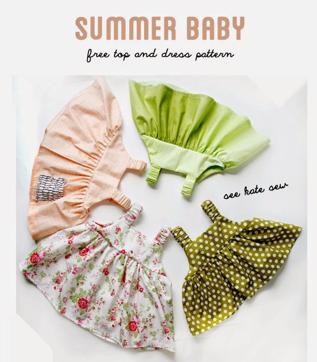 Summery baby dress pattern