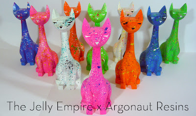 """Splatter Cats"" Custom 8"" Tuttz by The Jelly Empire"