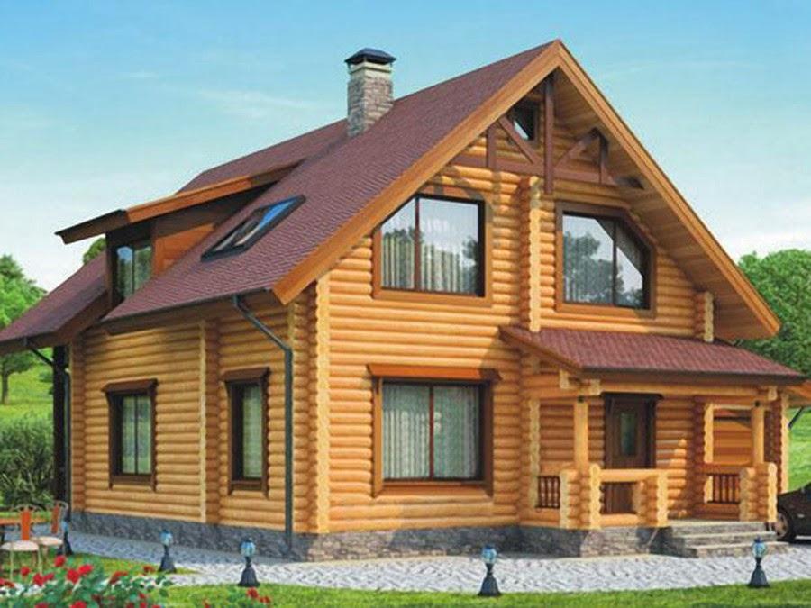 фото домов из цилиндрического бревна и цены